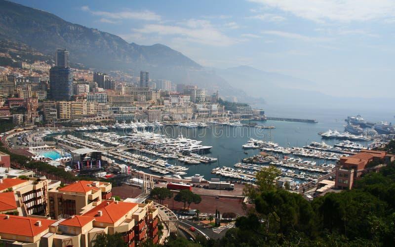 Monte Carlo Harbour in Monaco. View of Monte Carlo Harbour in Monaco stock photos