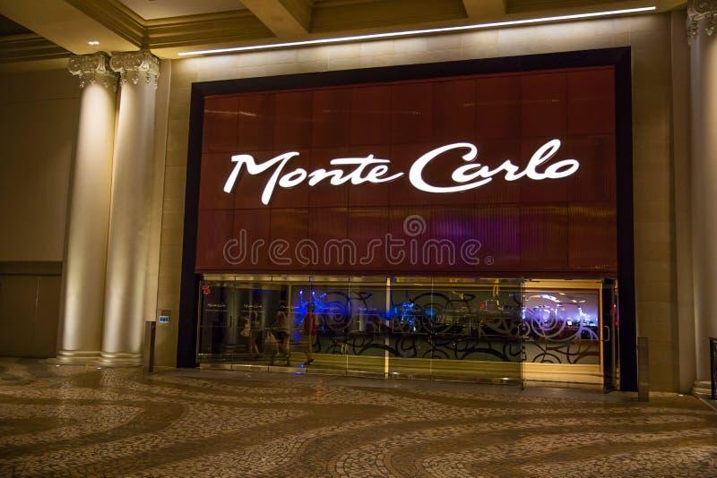 Monte Carlo Hotel Entrance immagine stock