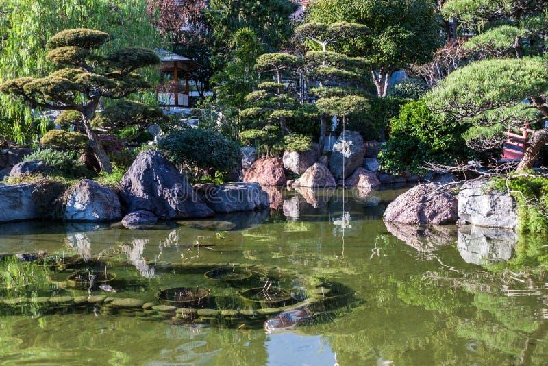 Monte Carlo Japanese Garden fotografia stock libera da diritti