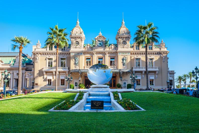 Monte, Carlo Kasynowa opera -, Monaco fotografia stock