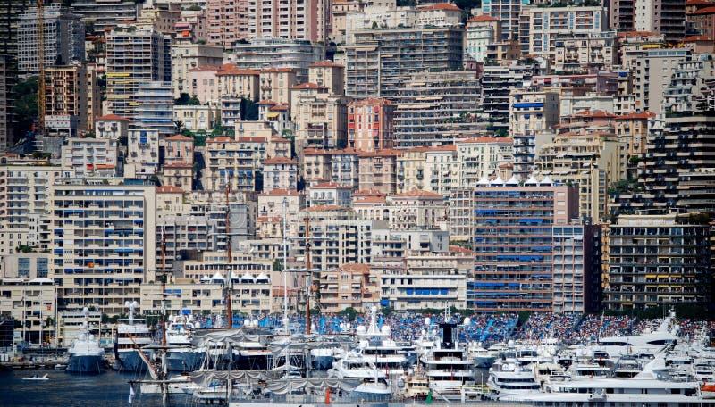 Monte Carlo Mass Crowding von Gebäuden lizenzfreie stockfotos