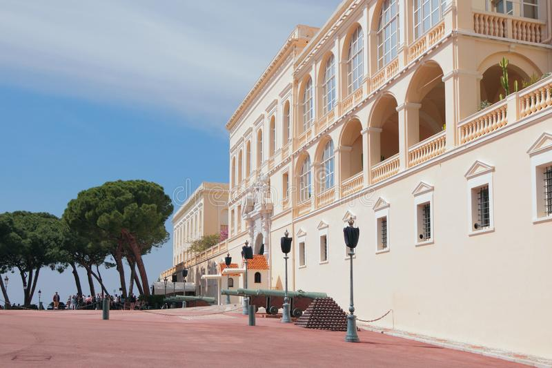 Monte Carlo, Monaco - Apr 19, 2019: Prince`s Palace. Prince`s Palace. Monte Carlo, Monaco - Apr 19, 2019 royalty free stock photography