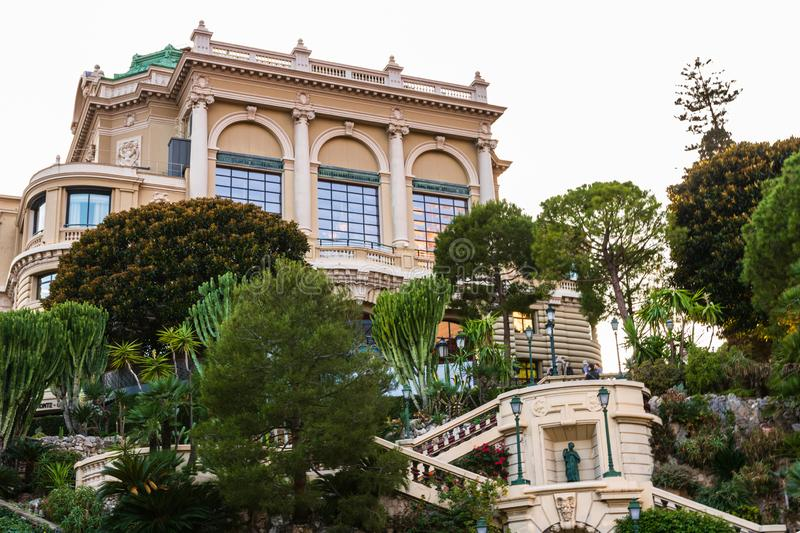 Monte Carlo, Monaco – 2019 Monte Carlo Grand Casino Staircase photo stock