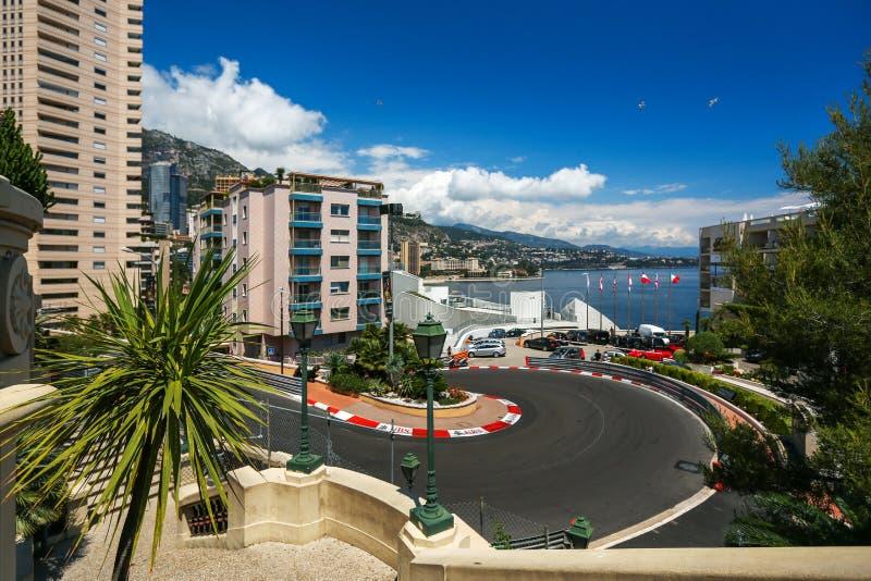 Monte Carlo, Monaco - 02 Juni 2014 De kring DE Monaco is een stree stock afbeeldingen