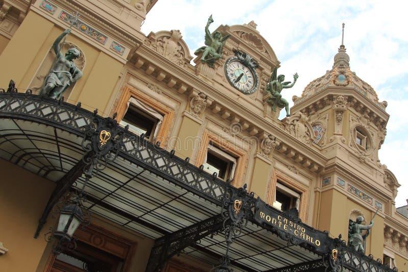 Monte - carlo, Monaco - Juni 29, 2018 Yttre sikt av kasinot royaltyfria bilder