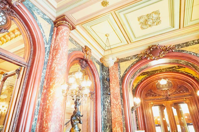 Monte Carlo, Monaco - September 23, 2018: A view of the lobby of the Casino de Monte-Carlo with marble decoration. Monte Carlo, Monaco - September 17, 2016: A royalty free stock images