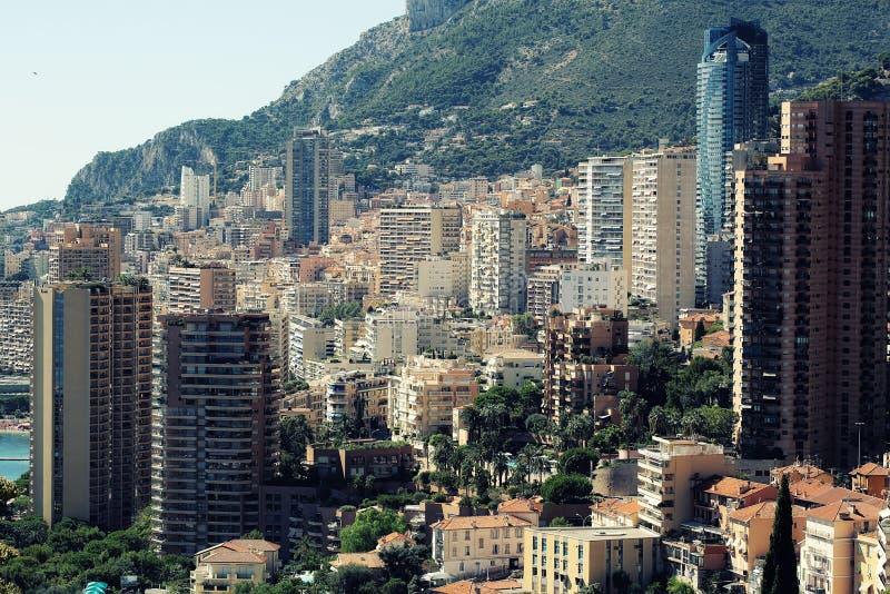 Monte Carlo Monaco-Vogelperspektive lizenzfreies stockbild