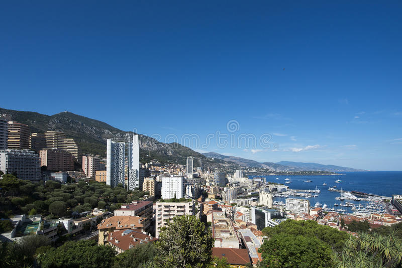 Monte Carlo overview, Monaco. Monte Carlo refers to an administrative area of the Principality of Monaco where the Monte Carlo Casino is located. Monaco is a royalty free stock image