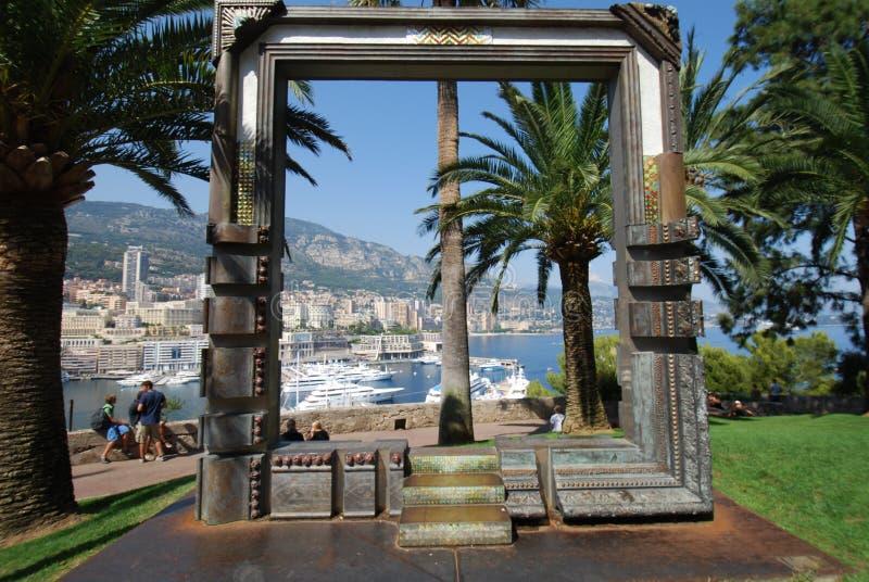 Monte Carlo, palm, arecales, boom, toevlucht royalty-vrije stock foto's