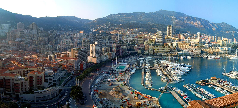 Monte Carlo Panorama stock photography
