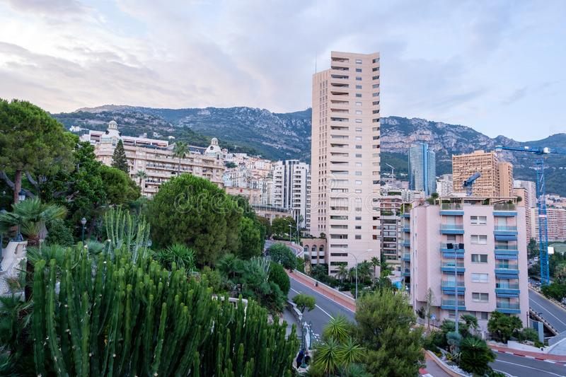 Monte Carlo at sunset stock images