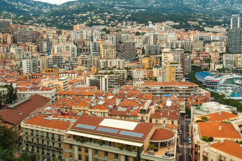 Monaco, Monte Carlo Panoramic view of the city stock images