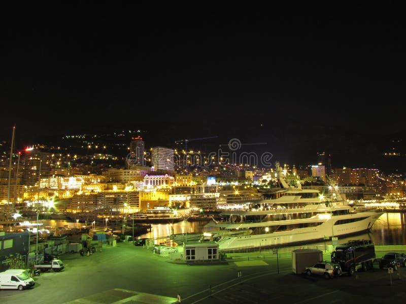 Monte - carlo w nocnychogniach royaltyfri bild