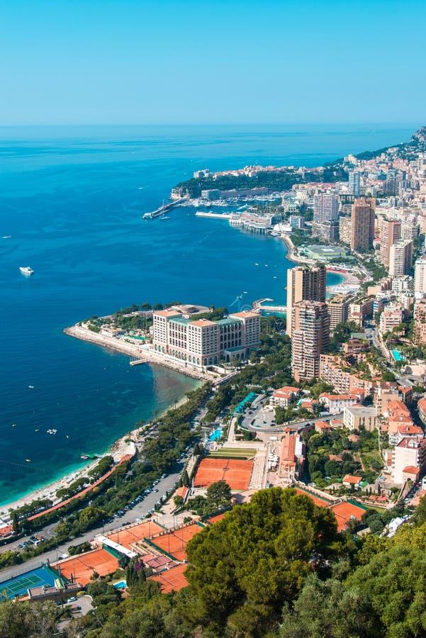Monte, Carlo widok - obrazy stock
