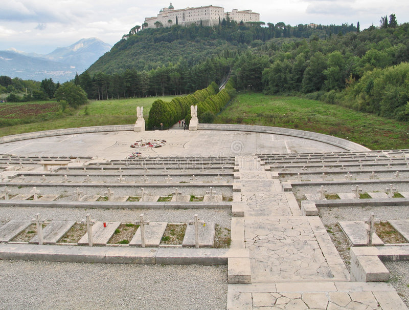 Monte Cassino imagen de archivo libre de regalías