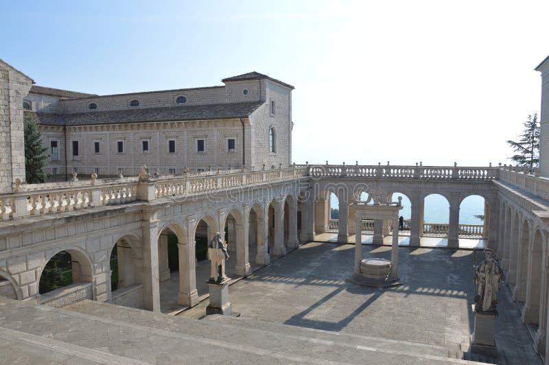 Monte Cassino stock photo