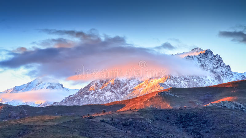 Monte Cinto From Col De San Colombano In Corsica Royalty Free Stock Image