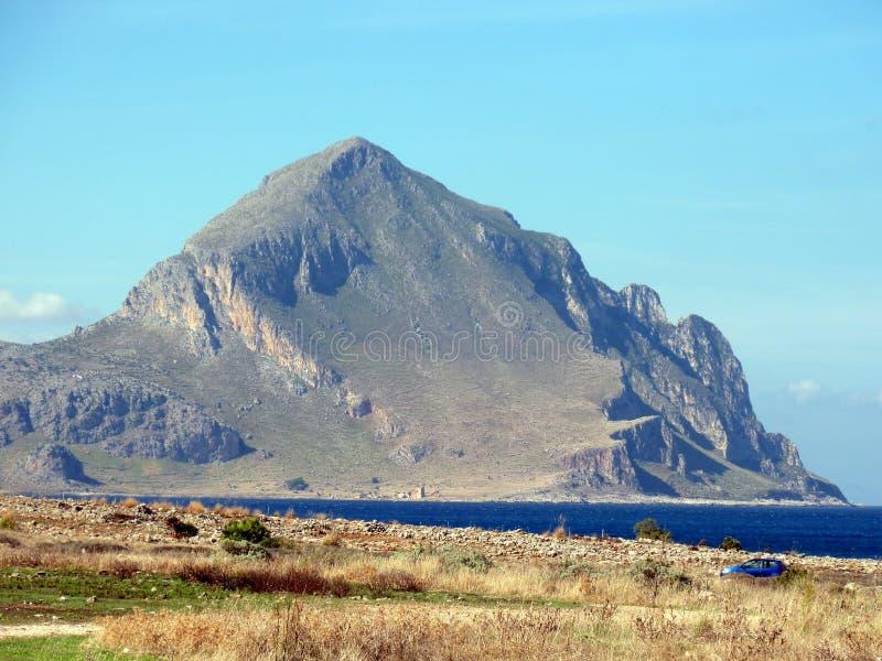 Monte Cofano fotografia de stock
