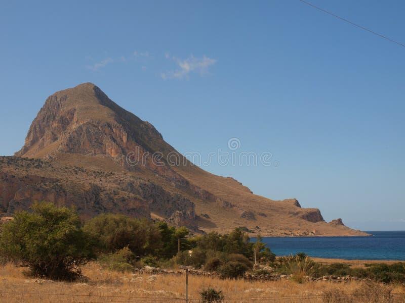 Monte Cofano fotografia stock
