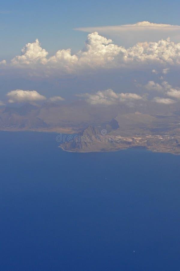 Monte Cofano - la Sicilia, Italia immagine stock