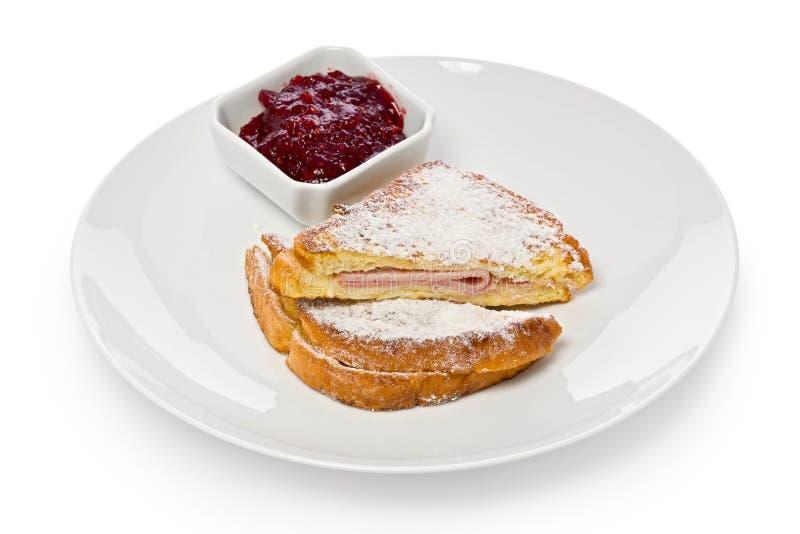 Monte Cristo Sandwich stock images