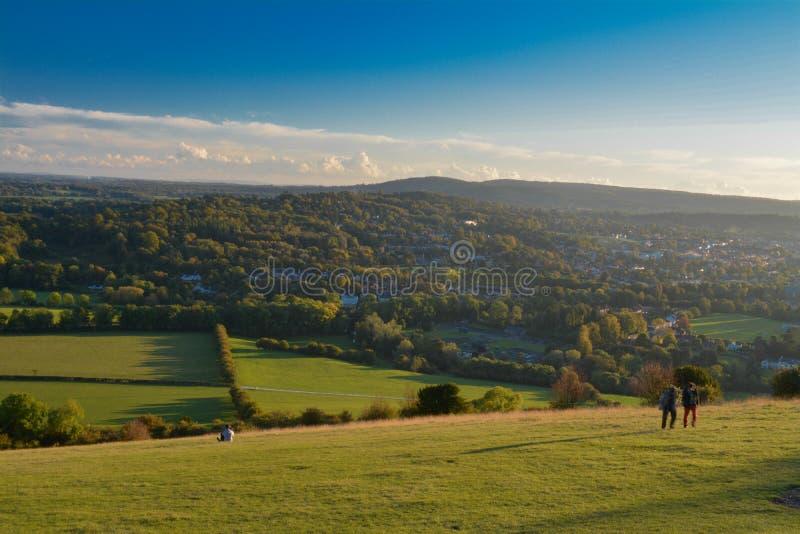 Monte da caixa, Surrey fotografia de stock
