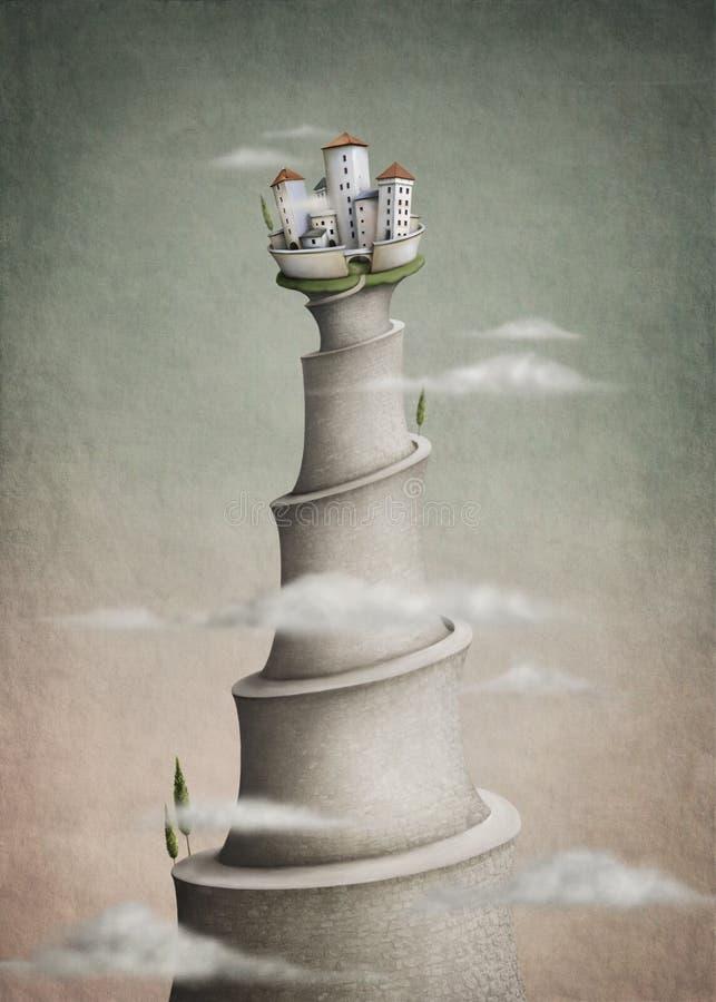 Monte da cidade ilustração stock