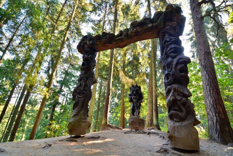 Monte das bruxas Juodkranté lithuania fotos de stock royalty free