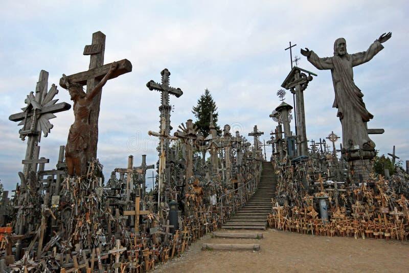 Monte das cruzes, Siauliai, Lituânia, Europa imagem de stock