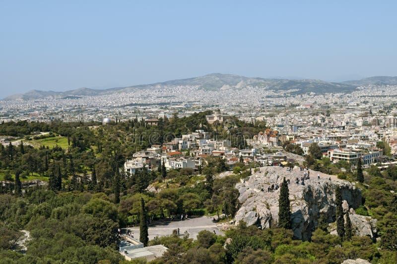 Monte de Areipagus, Atenas fotos de stock