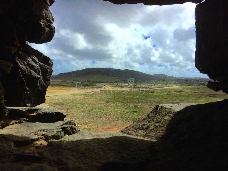 Monte de Aruba foto de stock