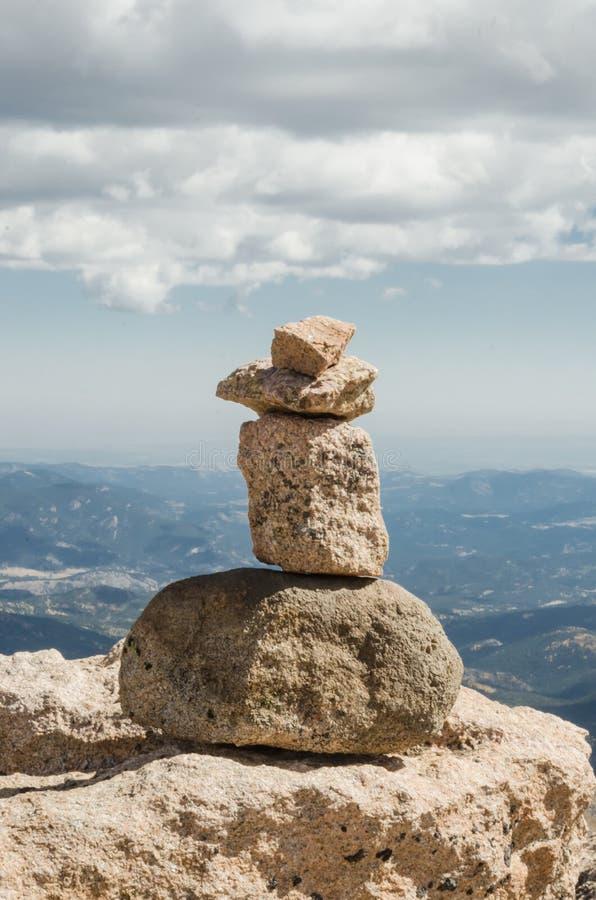 Monte de pedras na montagem Evans fotos de stock royalty free