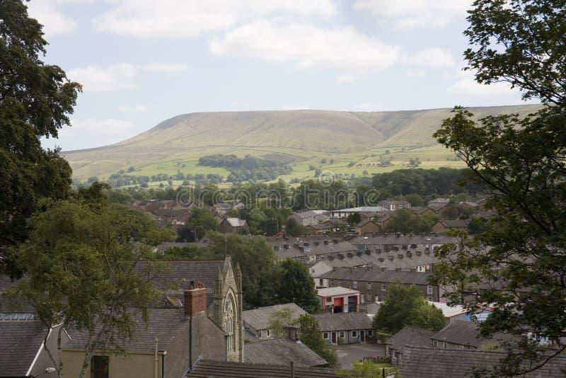 Monte de Pendle em Lancashire, em cidade e em país fotos de stock royalty free