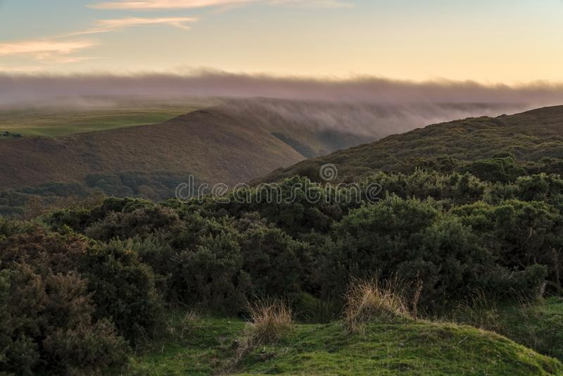 Monte de Porlock, Inglaterra, Reino Unido fotos de stock royalty free