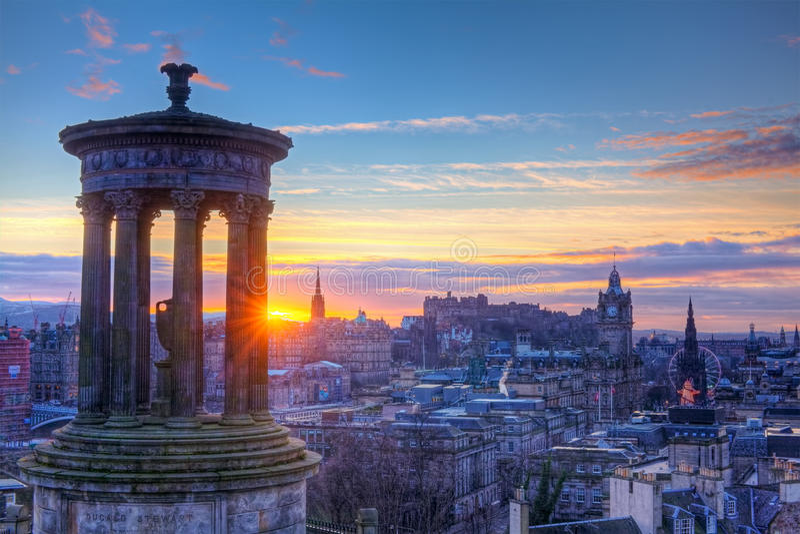 Monte de Scotland Edimburgo Calton fotos de stock royalty free