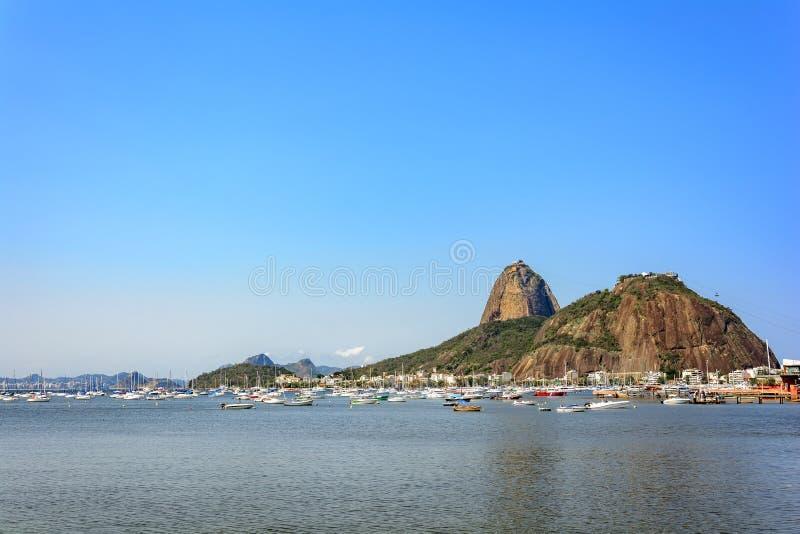 Monte de Sugar Loaf em Rio de janeiro fotografia de stock royalty free