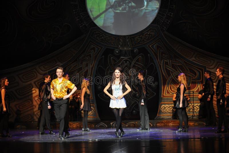 Monte de Tara---A dança de torneira nacional irlandesa da dança imagens de stock royalty free