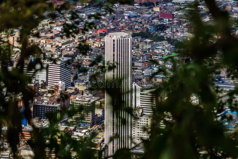 Monte do monserrate dos sinces da opinião de Bogotá fotografia de stock