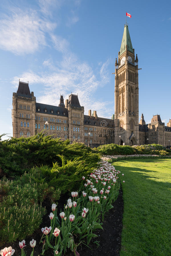 Monte do parlamento de Ottawa, Canadá fotografia de stock