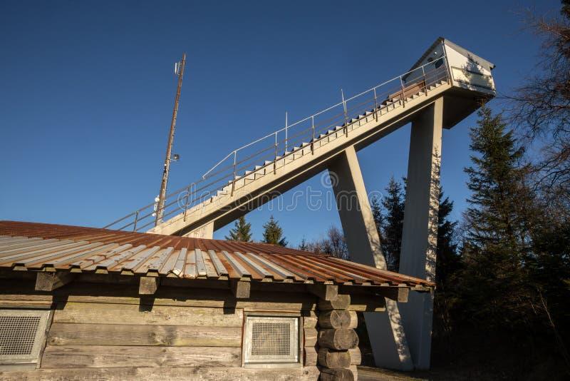 Monte do salto de esqui do treinamento de Winterberg Alemanha fotografia de stock royalty free