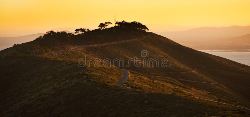 Monte do sinal em Capetown África do Sul fotografia de stock royalty free