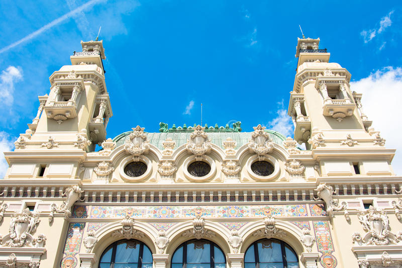 Monte do teatro da ópera - Carlo monaco imagens de stock royalty free