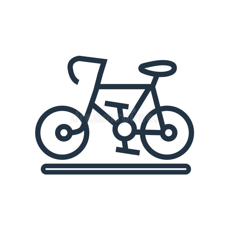 Monte en bicicleta el vector del icono aislado en el fondo blanco, muestra de la bicicleta stock de ilustración