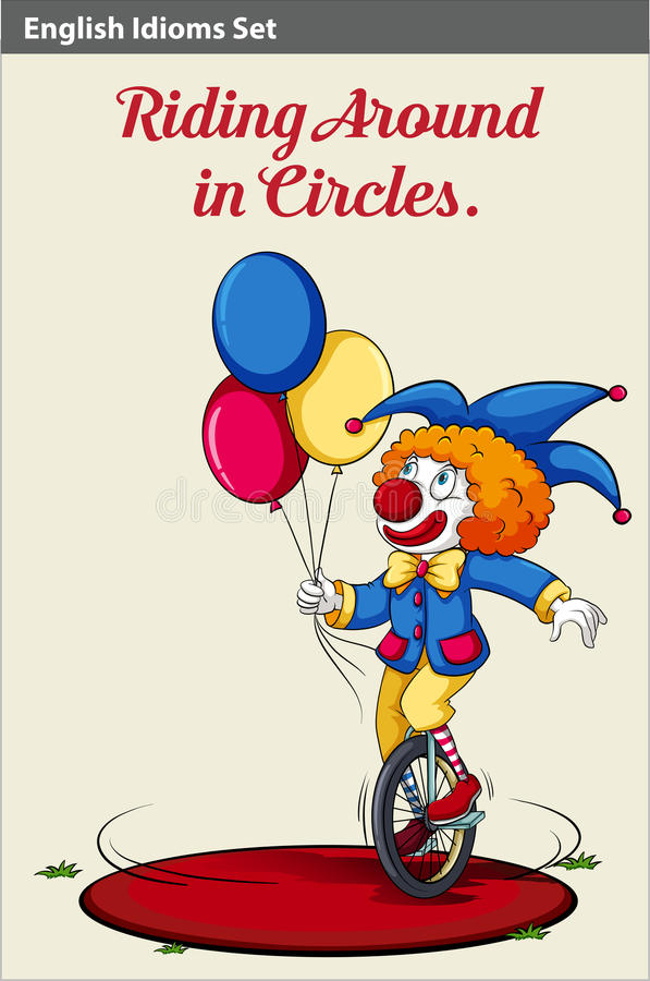 Monte en cercles illustration stock