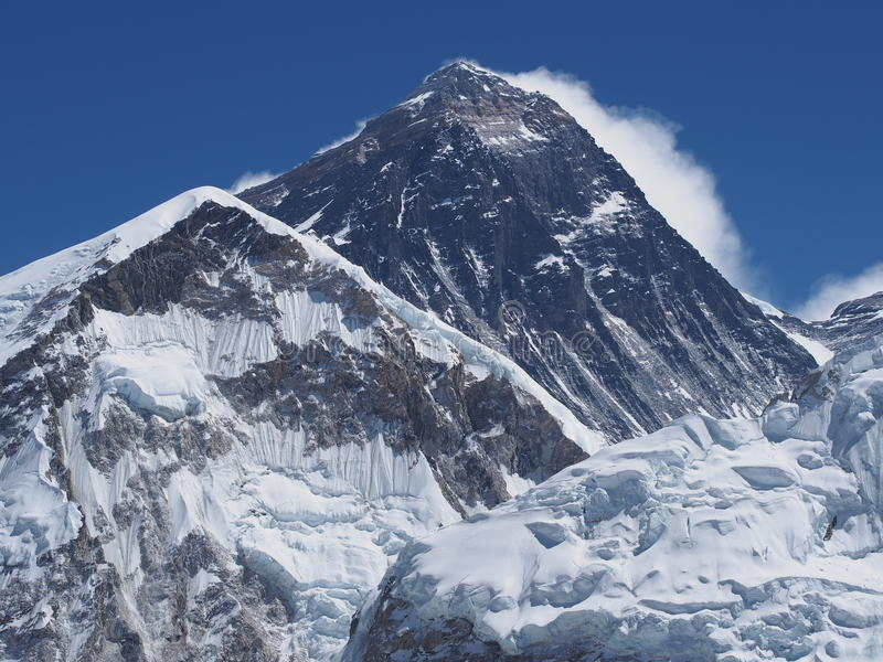 Monte Everest visto de Kala Patthar imagens de stock