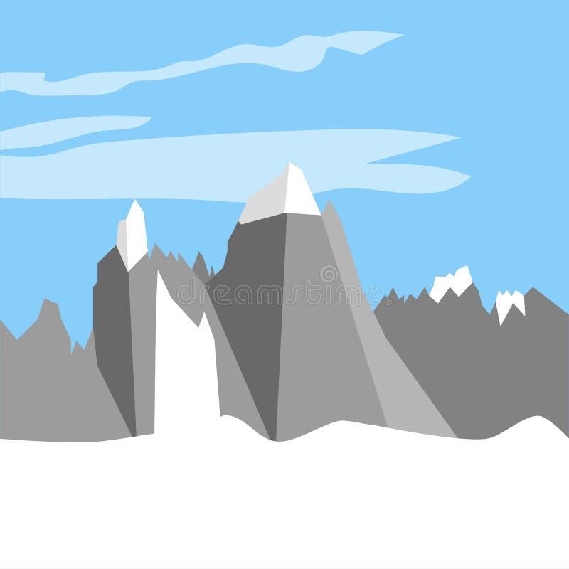 Monte Fitz Roy Mountain ilustração royalty free