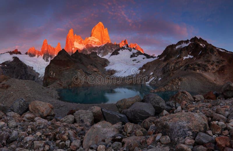 Monte Fitz Roy, Patagonia, Argentina arkivbild