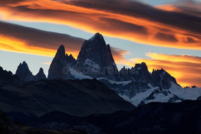 Monte Fitz Roy, Patagonia, Argentyna fotografia royalty free