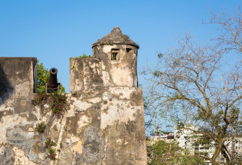 Monte Fort en Macao foto de archivo