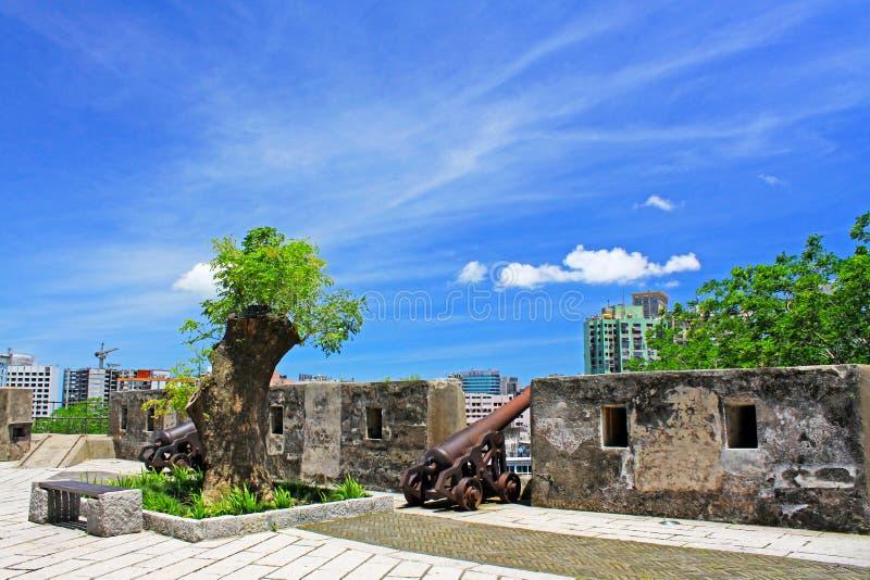 Monte Fort Macao, Kina royaltyfri fotografi